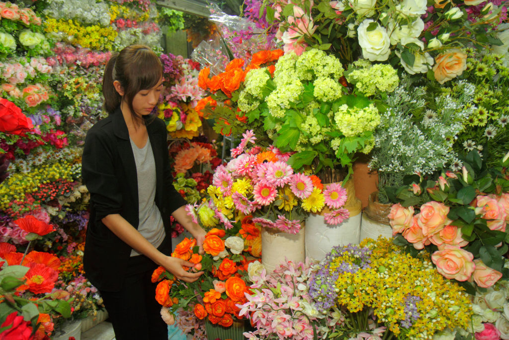 Le marché aux fleurs, Getty