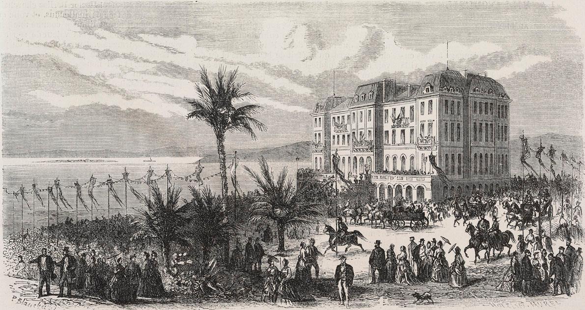 Garden party à l'hôtel Eden Roc, encore Villa Soleil en 1870, Getty Images