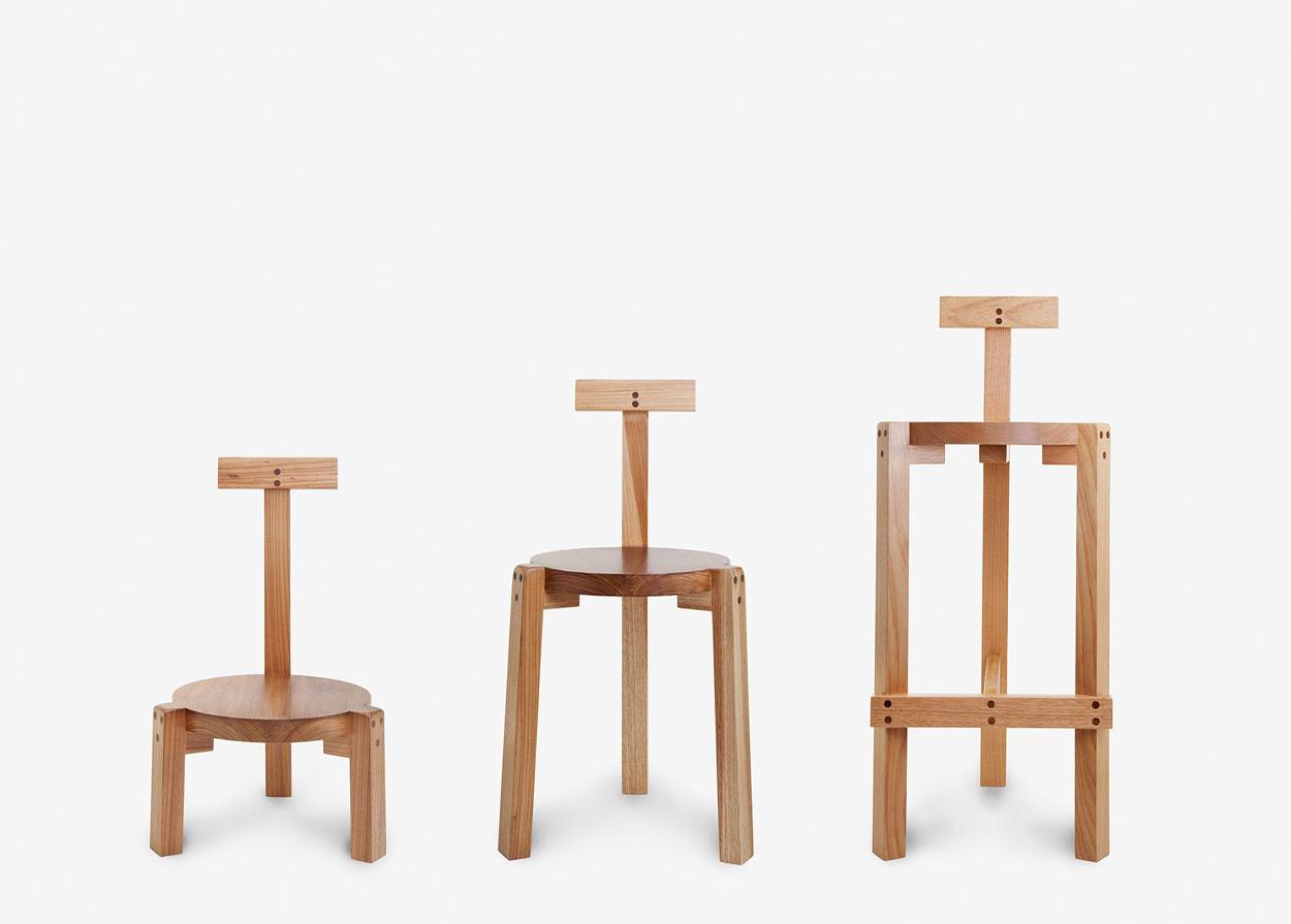 Lina Bo Bardi, Marcelo Ferraz et Marcelo Suzuki, Girafa Chair, Marcenaria Baraúna 1987, Le mobilier d'architectes, 1960-2020, © Cité de l'architecture, Denys Vinson photographe 2019