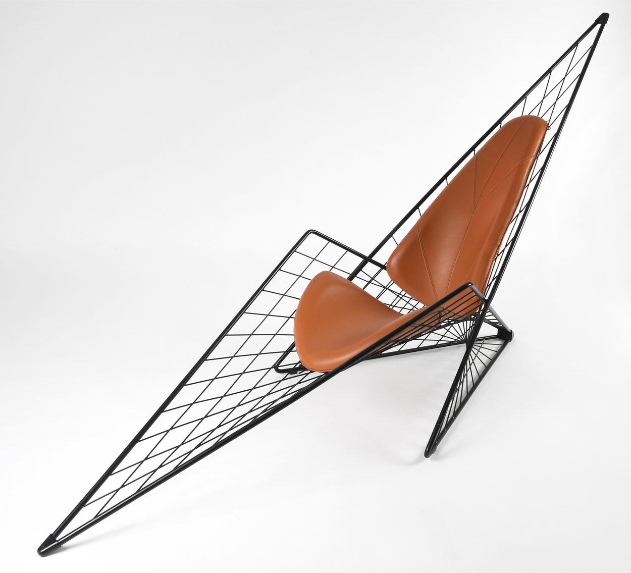 Isabelle Serre, chaise longue, 1983 avec l'aimable autorisation du Mobilier national © Collection du Mobilier national-photo. Isabelle Bideau, Cité de l'architecture, Denys Vinson photographe 2019