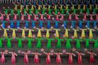 En Corée du Nord, une symétrie presque surréaliste (en images)