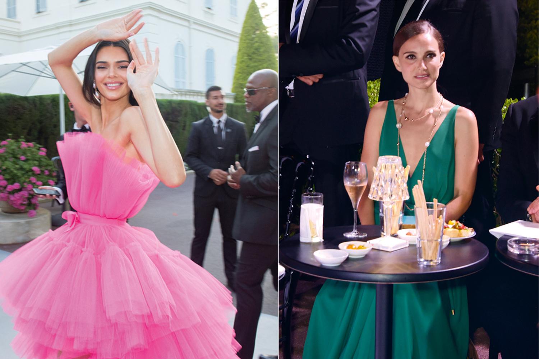 À gauche: la top Kendall Jenner, lors du Festival de Cannes 2019. / À droite: Natalie Portman, lors de la fête donnée à l'hôtel, pendant le Festival, en 2015., Getty Images / SDP