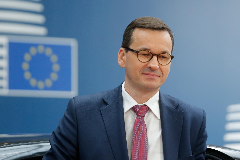 Le Premier ministre polonais Mateusz Morawiecki, JULIEN WARNAND / AFP