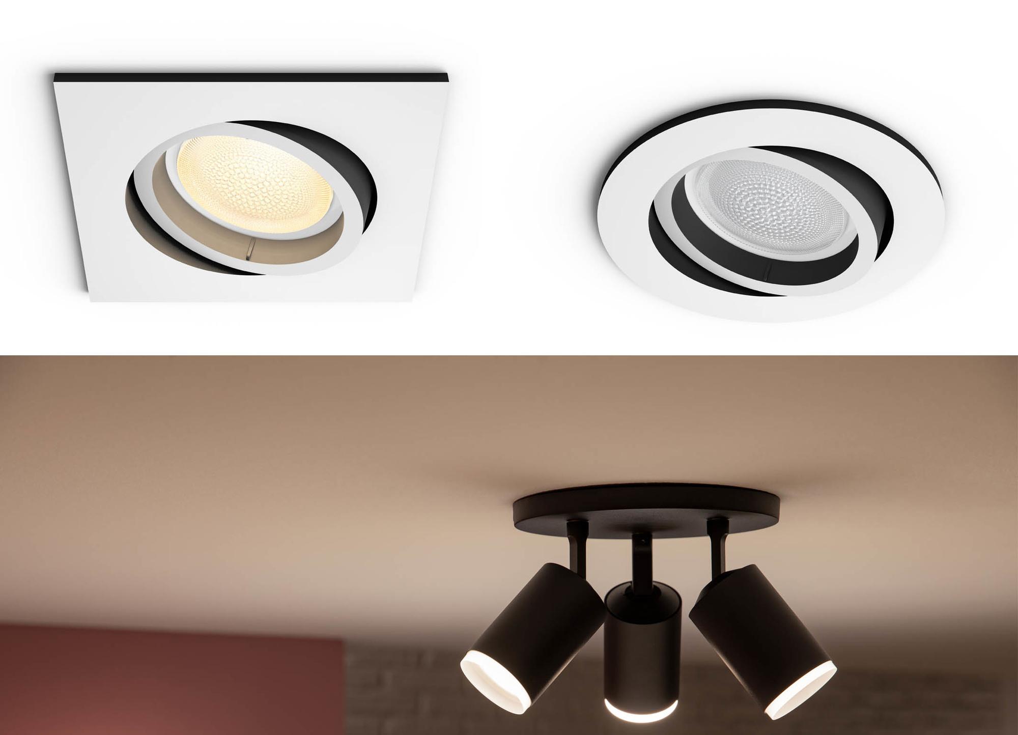 Naast losse spots komt Signify ook met volledige spotlichten in verschillende vormen., PVL