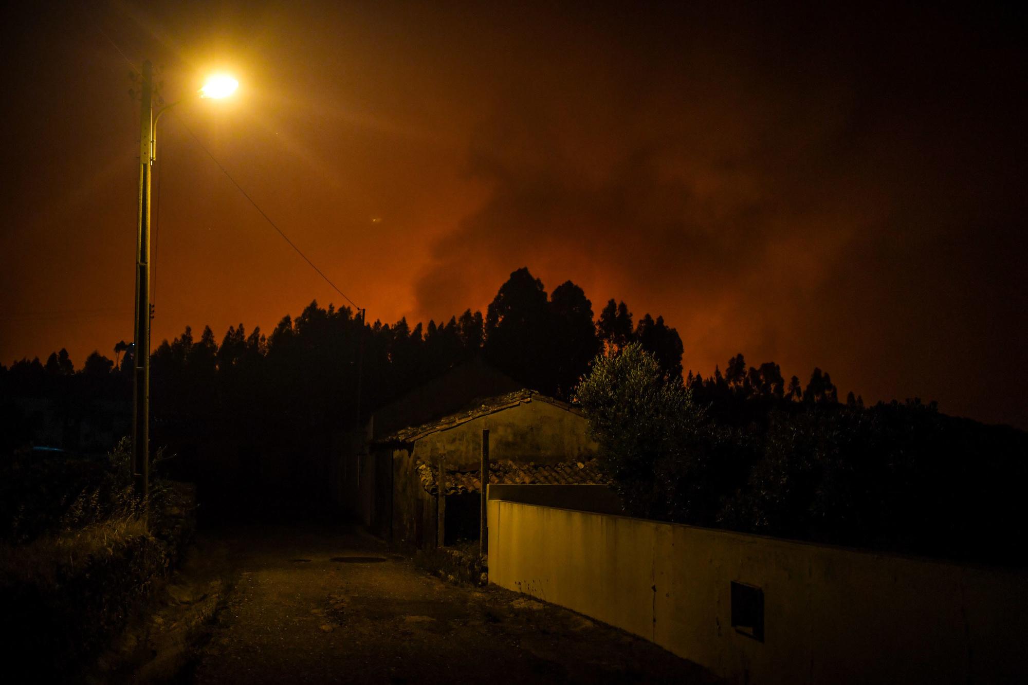 Feux de forêt à Amendoa au central du Portugal, le 20 juillet 2019, AFP