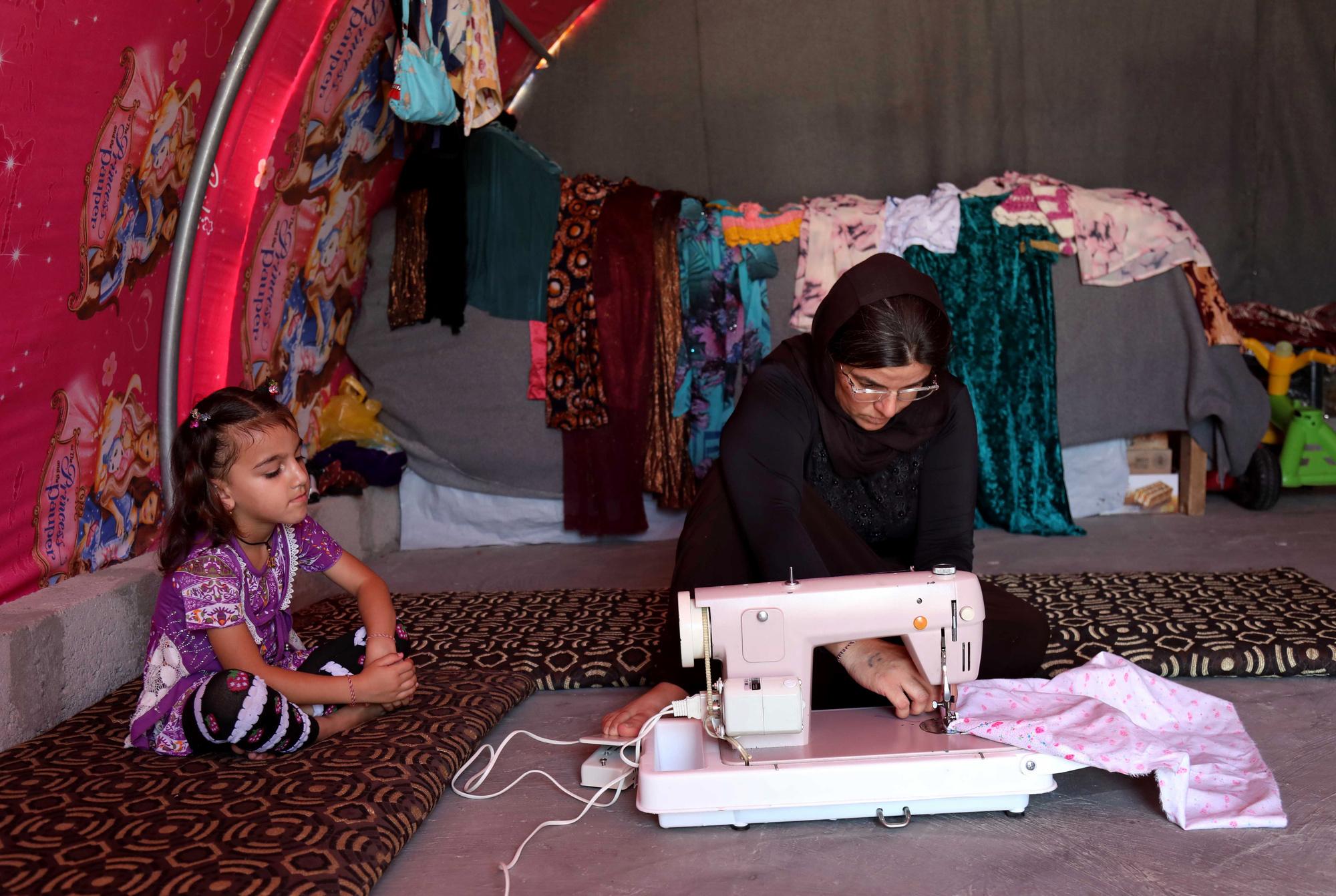 Layleh Shemmo, une Yazidi qui a survécu aux attaques de l'EI., AFP