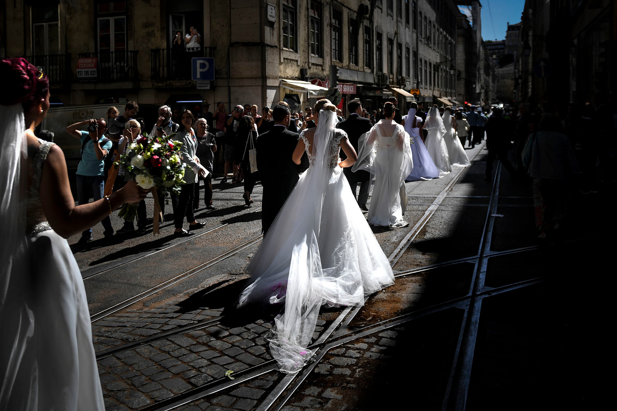 Noces collectives à Lisbonne, le 12 juin 2019, AFP