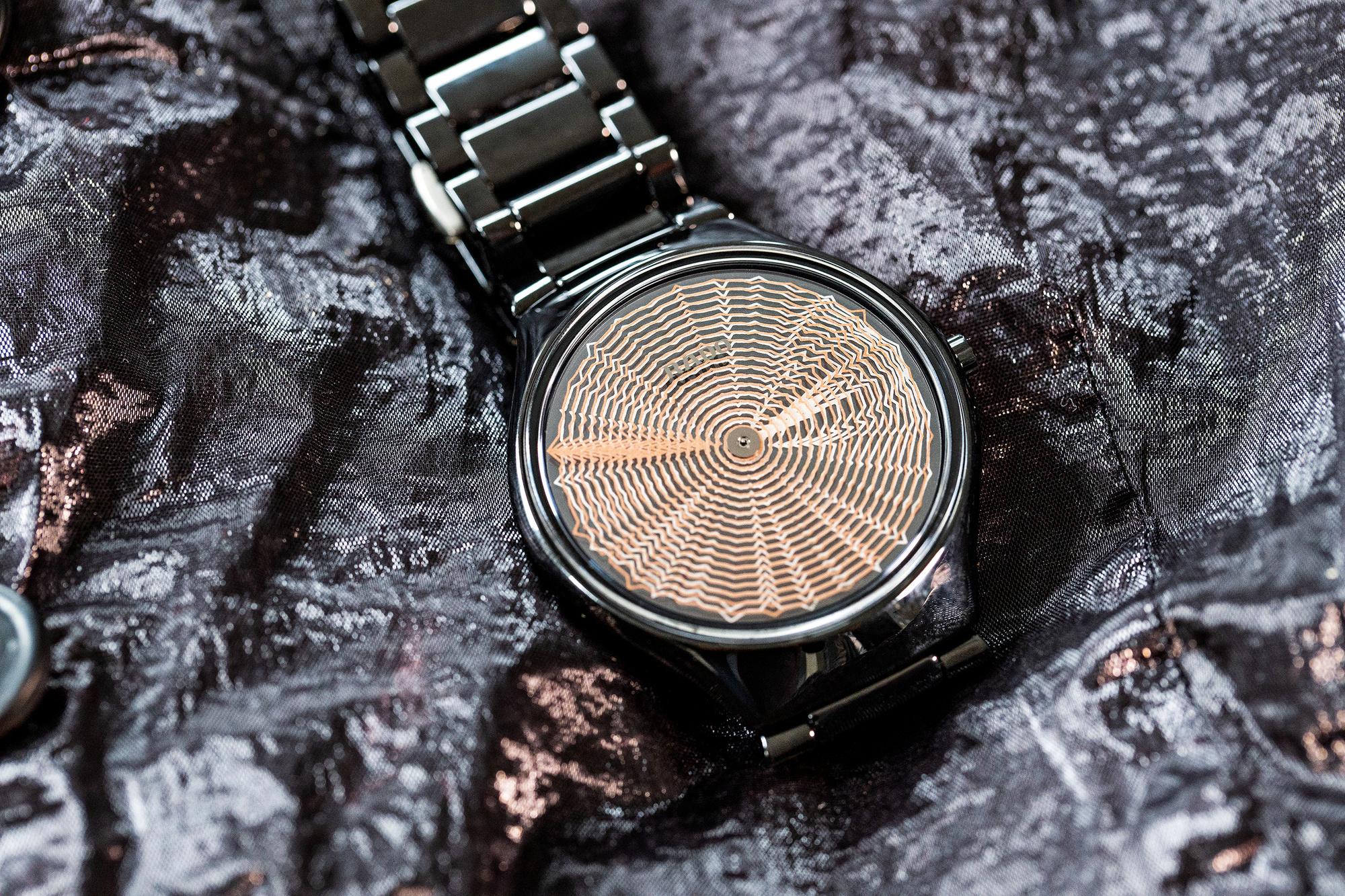 Het horlogeFlora Miranda ontworpen heeft voor Rado., Foto R.V.