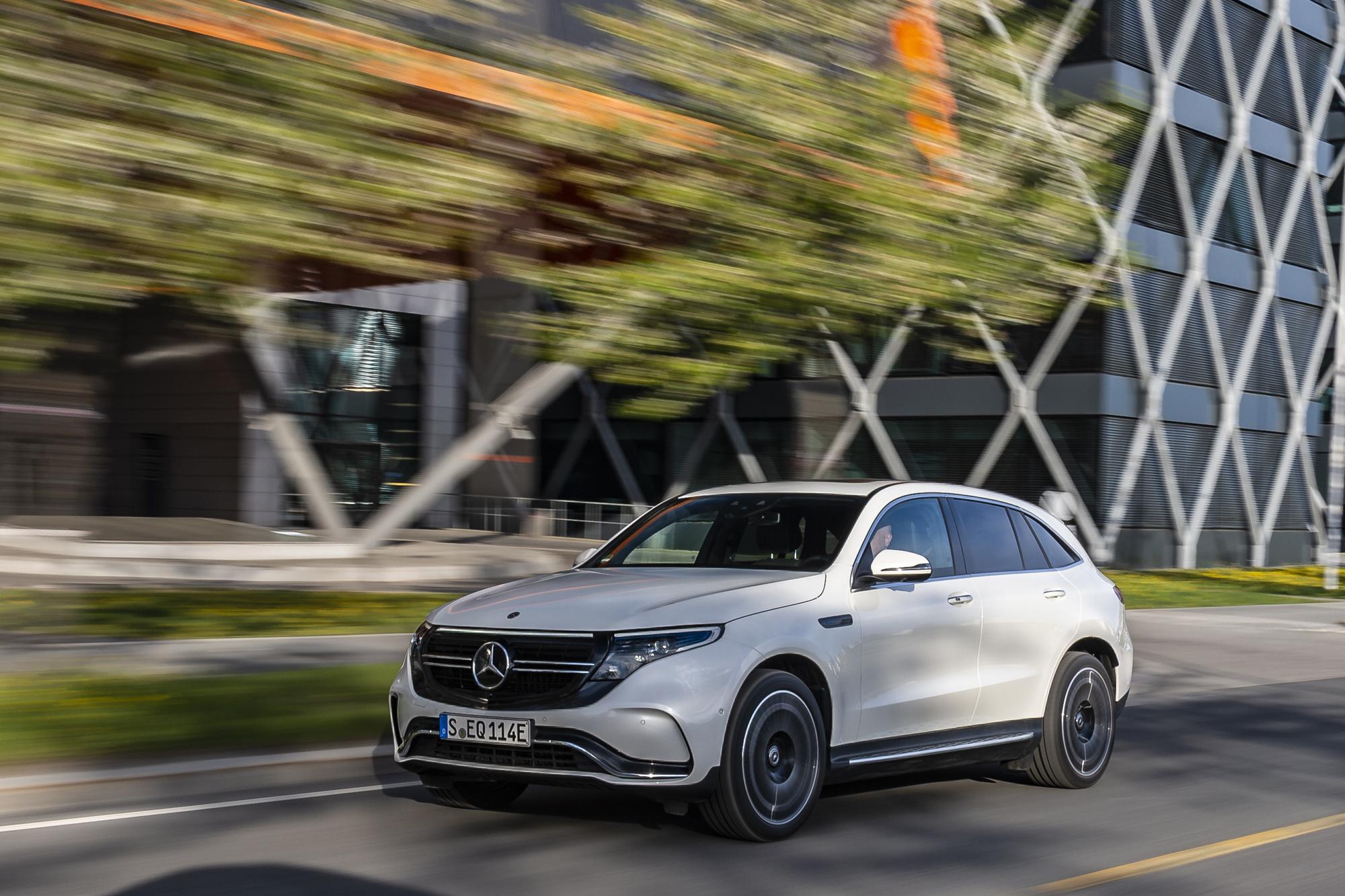 De EQC is de eerste elektrisch aangedreven SUV van Mercedes., /