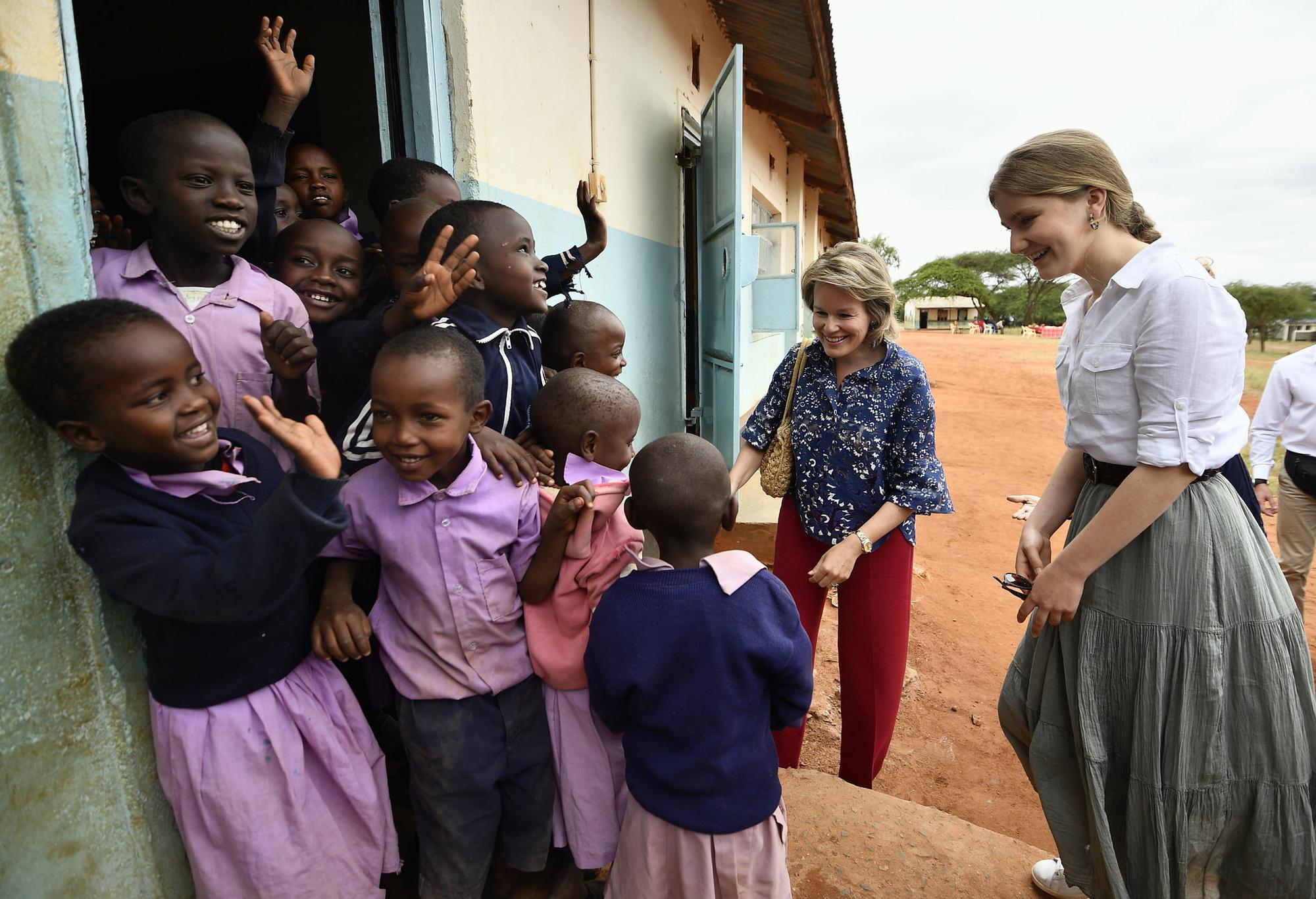 Visite de Mathilde et Elisabeth chez les Massai, le 27 juin 2019, Belga Images