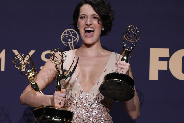 Phoebe Waller-Bridge bij de uitreiking van de Emmy Awards 2019., Reuters