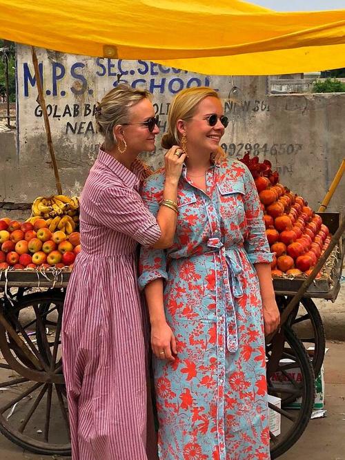 Christine Bekaert et sa fille Elise, CB
