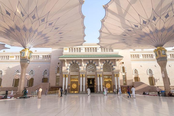 Mosqueée du Prophète, ou Al-Masjid An-Nabawi , Getty Images