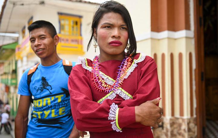 John Palacios et sa petite amie Jessica Bucama , AFP